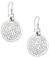 Lois Hill Filigree Sterling Silver Drop Earrings