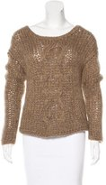 Raquel Allegra Mohair Cable Knit Sweater