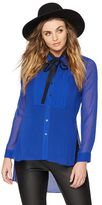 A Pea in the Pod Bcbg Max Azria Tie Detail Maternity Blouse