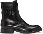 Jil Sander Black Ankle Strap Boots