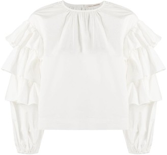 Ulla Johnson Ruffle Long Sleeve Blouse