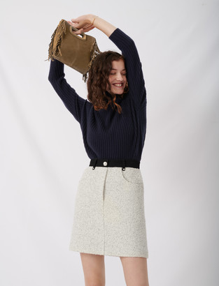 Maje Tweed-style skirt with contrast details