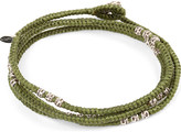 M. Cohen Knotted 4 layer Thai Stamp Wrap Bracelet