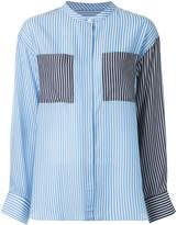 Le Ciel Bleu contrast panel striped shirt