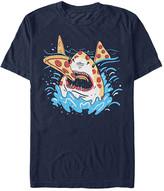 Fifth Sun Men's Tee Shirts NAVY - Navy Pizza Shark Tee - Men