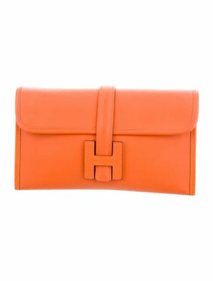 Hermes Swift Jige Duo Wallet Orange