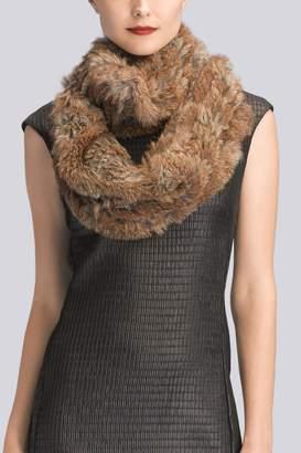 Natori Knitted Fur Scarf