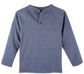 Andy & Evan Childrenswear Long-Sleeve Raglan Henley Tee, Light Blue, 3-24 Months