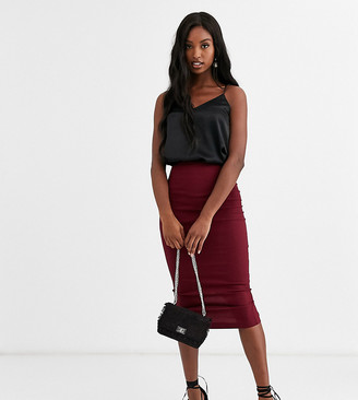 Asos DESIGN Tall high waisted longerline pencil skirt