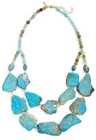 Panacea Double Row Agate Statement Necklace