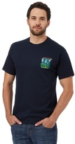 Weird Fish Navy 'brussel Trouts' Print T-shirt