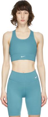 Nike Blue Swoosh Long Line Sports Bra