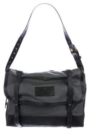 DSQUARED2 Leather-Trimmed Canvas Messenger Bag