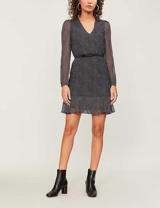 Claudie Pierlot Spot-print silk-chiffon dress