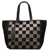 Loxwood New Women's Cabas Parisien Cuir Damier In Black