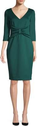 Eliza J V-Neck Sheath Dress