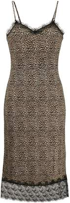 Michael Kors leopard print midi dress