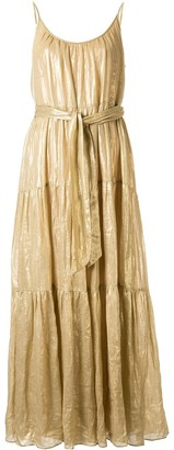 Ginger & Smart Glorious metallized maxi dress