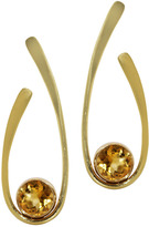 "Joan Hornig Matisse"" Citrine Oval Drop Earrings"