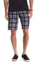 Burnside Plaid Cargo Short