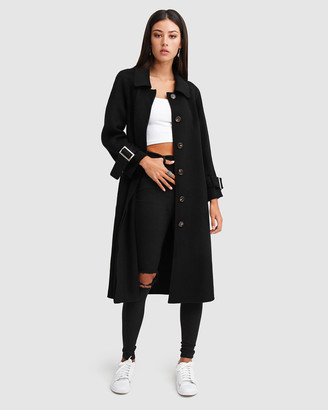 Belle & Bloom Shore To Shore Belted Wool Coat