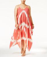 Raviya Plus Size Tie-Dye Handkerchief-Hem Cover-Up Dress Women's Swimsuit