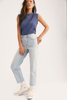 We The Free CRVY High-Rise Vintage Straight Jeans by at Free People, Pacific Indigo, 24