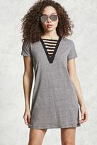 Forever 21 Caged Front T-Shirt Dress