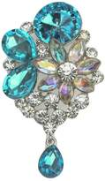 Epinki Women Brooch, Stainless Steel Flower Brooch Bouquet Brooches and Pins Wedding Brooch