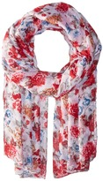 Bindya Striped and Floral Scarf Scarves