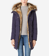 Cole Haan Hooded Assymetrical Down Coat