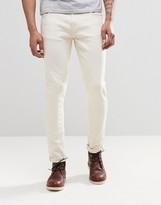 Nudie Jeans Skinny Lin Super Skinny Jeans Ecru Stretch