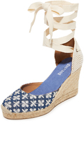 Soludos Pattern Tall Wedge Espadrilles