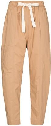 Lee Mathews High-Waist Tie-Fastening Trousers