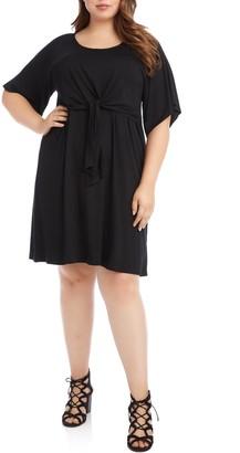 Karen Kane Tie Front A-Line Dress