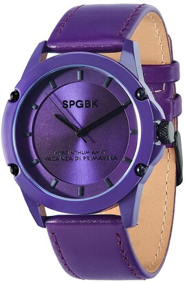 Spgbk Watches Britt Silicone Strap Watch, 44mm