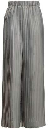 Brunello Cucinelli Pleated Organza Wide-leg Pants