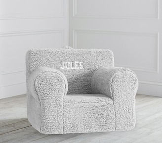 Pottery Barn Kids Oversized Gray Cozy Sherpa Anywhere Chair