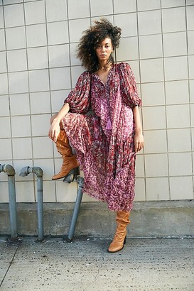 Free People Estelle Chiffon Maxi Dress