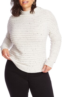 Court & Rowe Speckled Ottoman Turtleneck Sweater