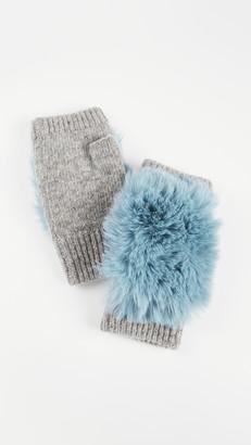 Adrienne Landau Knit Fingerless Gloves