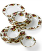 Royal Albert Old Country Roses 12-Piece Dinnerware Set, A Macy's Exclusive Style