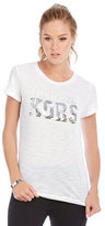 MICHAEL Michael Kors Foil and Sequin Logo Knit Tee