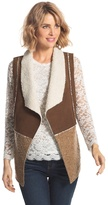 Chico's Faux-Suede Sherpa Vest