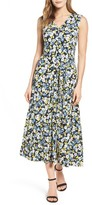 Chaus Women's Bouquet Terrain Tie Waist Midi Dress