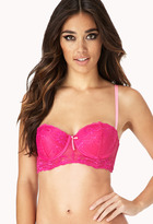 Forever 21 Lace Corset Push-Up Bra