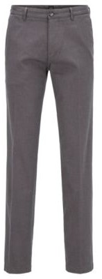 HUGO BOSS Regular-fit chinos in micro-patterned stretch cotton