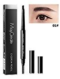 Eyebrow Pencil With Brush, BOYON Grey Automatic Rotation Convenient Waterproof Long Lasting 2 in 1