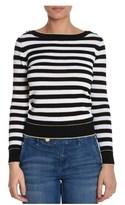 Atos Lombardini Women's White/black Cotton Sweater.