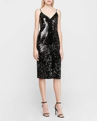 Express X Karla Sequin Slip Dress